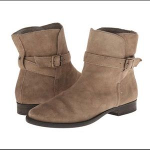Sam Edelman Malone Distressed Suede Booties 7.5